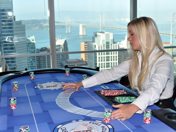 sydney hire poker table and dealer